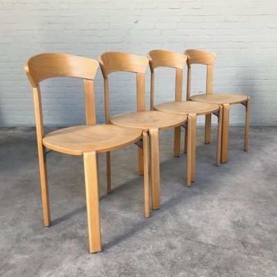 Beechwood Dining Chairs by Bruno Rey for Dietiker, Switzerland 1970