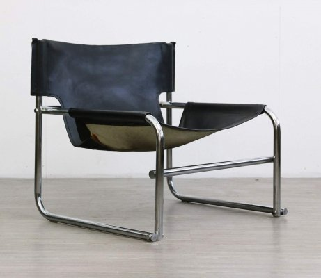 Leather Sling Chair by Rodney Kinsman for OMK, 1960s
