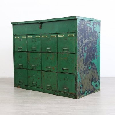Industrial Cubed Drawers & Storage Unit, 1950s