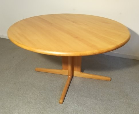 Round wooden table by Niels O. Møller, 1960s