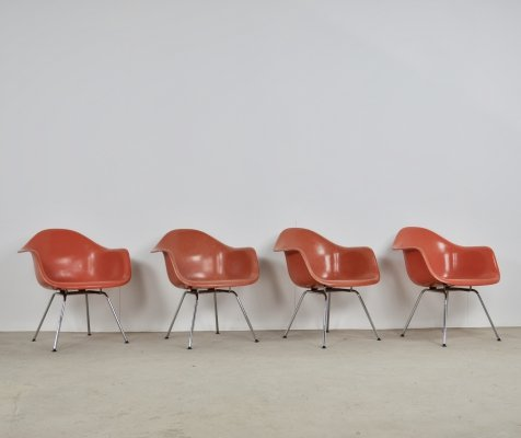 Set of 4 Arm Chairs by Charles & Ray Eames for Herman Miller, 1970s