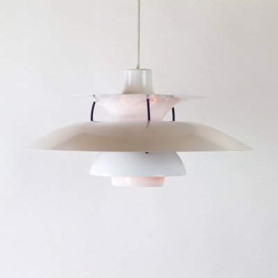 White PH5 Pendant Light by Louis Poulsen, Denmark