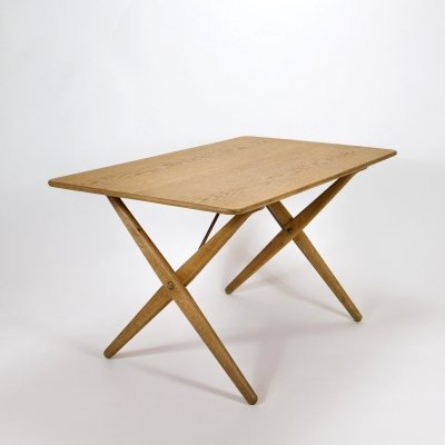Model AT308 Oak Side Table by Hans Wegner for Andreas Tuck, Denmark 1950s