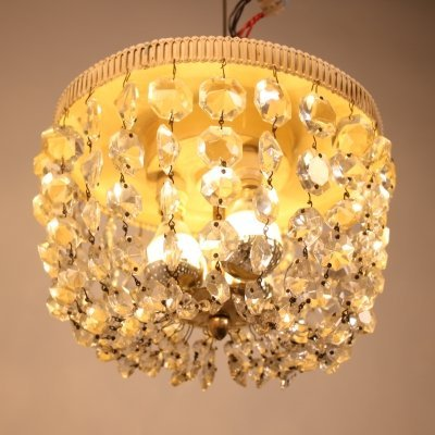 Vintage Crystal ceiling lamp, 1950s