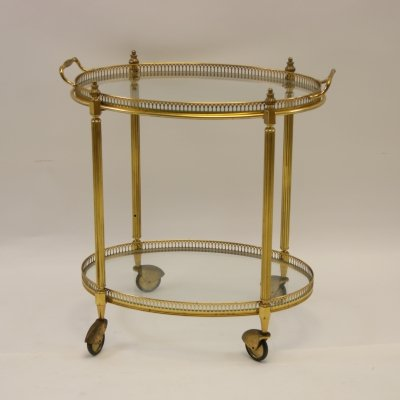 Golden Drinks trolley by Maison Jansen, Paris 1950s