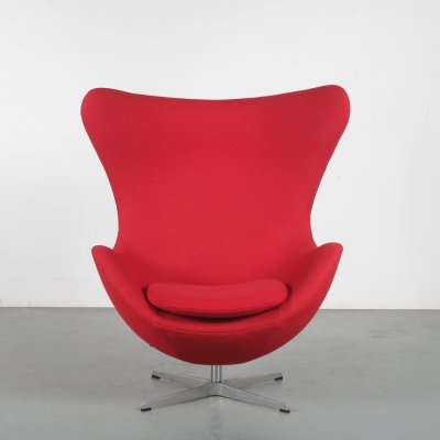 1980s Egg Chair by Arne Jacobsen for Fritz Hansen, Denmark