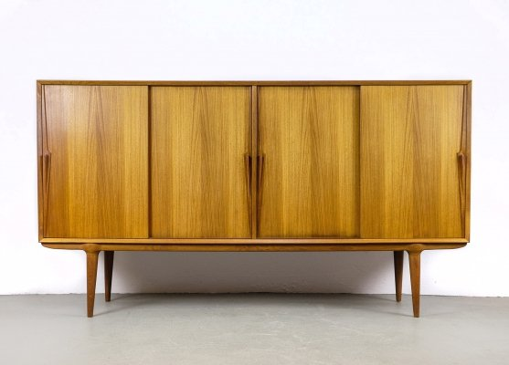 Model 19 Teak Highboard by Omann Jun, 1960s
