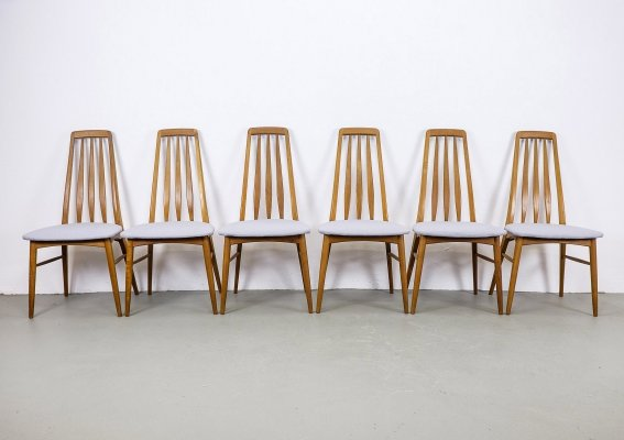 Set of 6 'Eva' Teak Dining Chairs by Niels Koefoed, 1960s