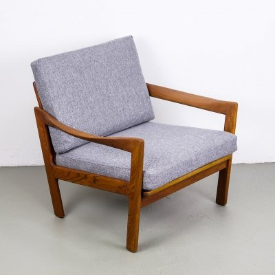 Teak Lounge Chair by Illum Wikkelsø for Niels Eilersen, 1950s