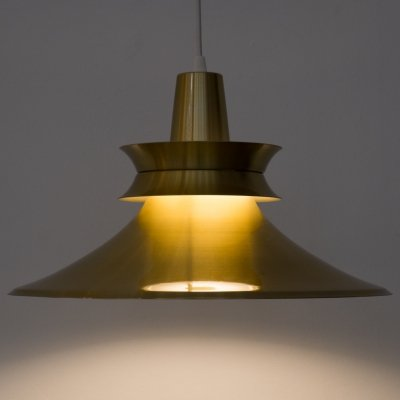 Aluminium gold pendant light by R. van Ingen, 1970s