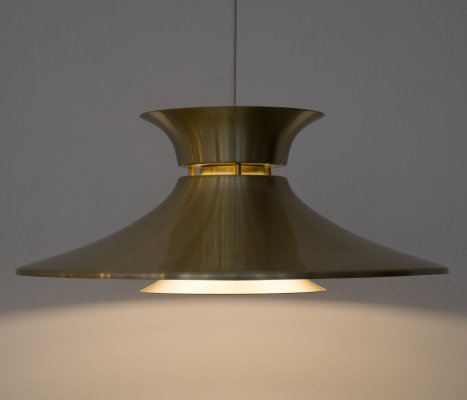 Golden Danish hanging lamp by Top Lamper, 1980s