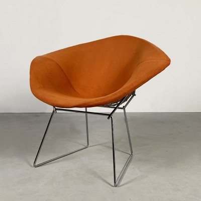 Orange Diamond Chair by Harry Bertoia for Knoll, 1970s