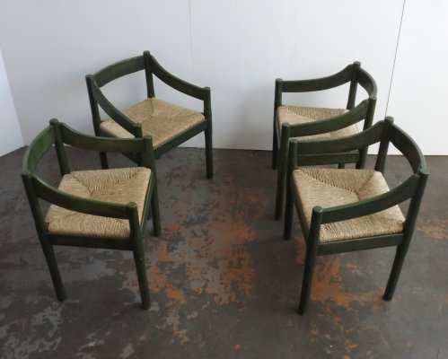 Set of 4 Carimate dining chairs by Vico Magistretti for Cassina, 1970s
