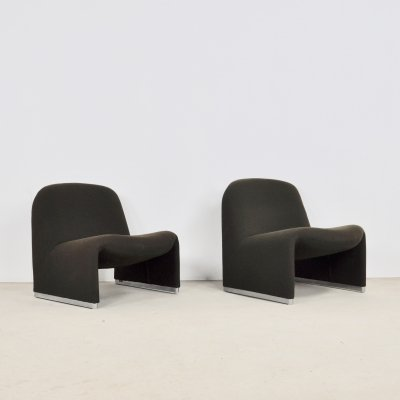 Pair of Alky Chairs by Giancarlo Piretti for Anonima Castelli, 1970s