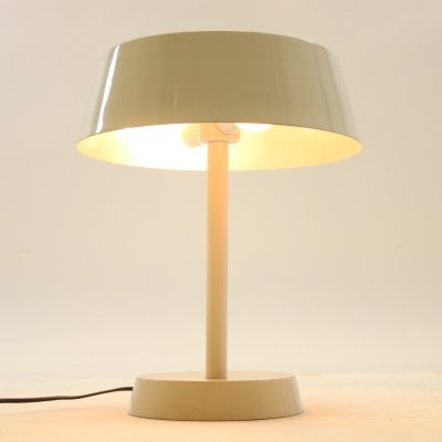 White metal table lamp, 1960s
