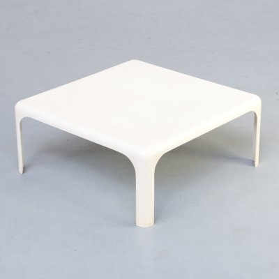 80s fiberglass square side / coffee table