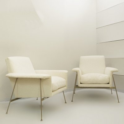 Pair of Georges Coslin Armchairs, 1960s