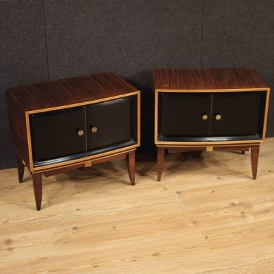 20th Century Pair of Italian Design Palisander Bedside Tables, 1960