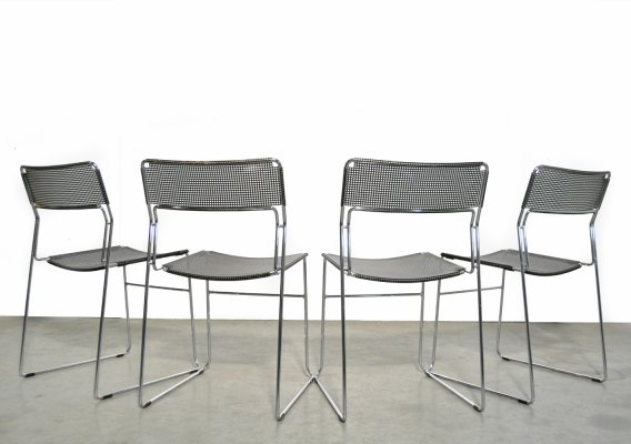 Set of 4 stackable 'Sultana' dining chairs by Arrben Italy, 1980s