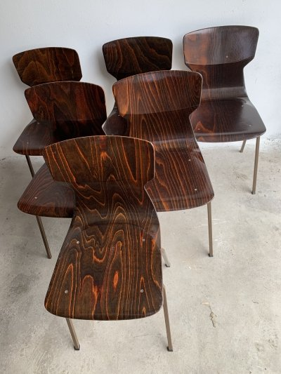 Set of 6 Rosewood Chairs by Eromes, 1960s