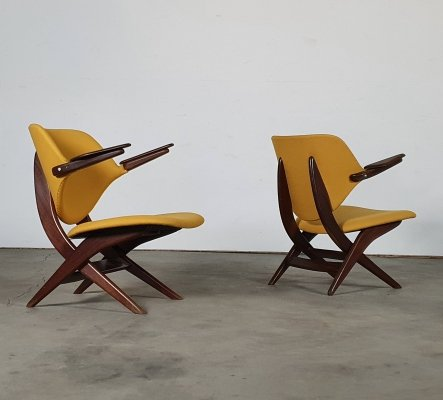 Set of 1960s 'Pelican' lounge chairs