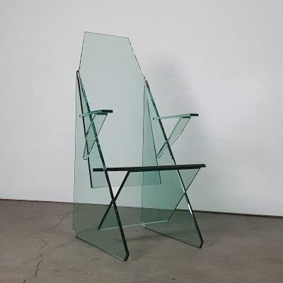 Unique chair by Theo Valk for Xallisz made out of glass (only 3 were made)