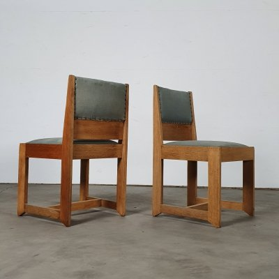 Modernist chair set by H. Wouda for Pander, 1924