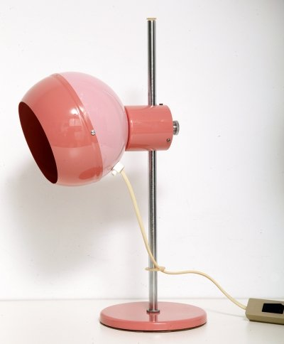 Space-age pink desk lamp by Drukov, 1970s