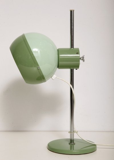 Space-age green desk lamp by Drukov, 1970s
