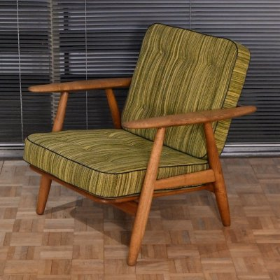 Hans Wegner GE240 Cigar Chair for Getama With Original Upholstery