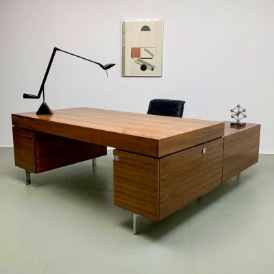 Impressive 1960's executive desk with sideboard