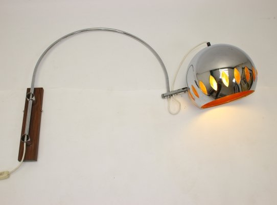 Gepo Amsterdam Chrome Wall arc lamp