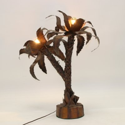 Palm Tree Lamp by Maison Jansen, Paris 1970