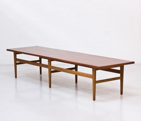 Swedish Teak & Oak Bench by Eric Johansson, 1950s