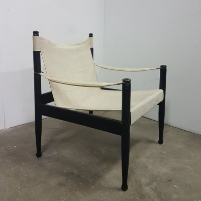Danish safari chair by Erik Wørts for Niels Eilersen, Denmark 1960s