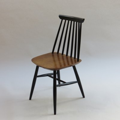 Black & Walnut Dining Chair, 1950s