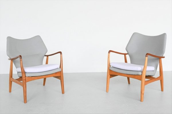 Aksel Bender Madsen Edith wingback chairs by Bovenkamp, Netherlands 1960