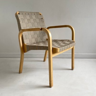 Bentwood 'Model 45' Chair by Alvar Aalto for Artek, 1990s