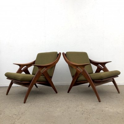 Pair of De ster lounge chairs, Dutch design 1960s