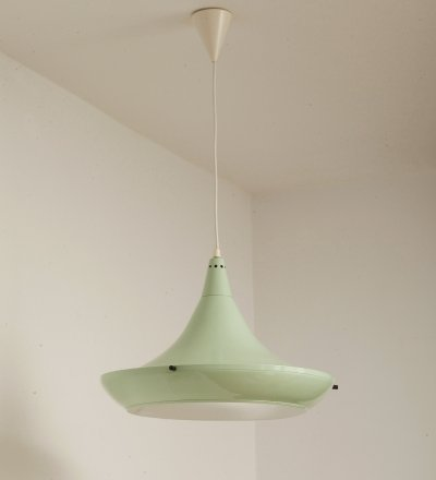 Mint Colour UFO Pendant Lamp by Polam Wieliczka, Poland 1994