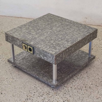 2 x Brutalist Side Table, 1970s