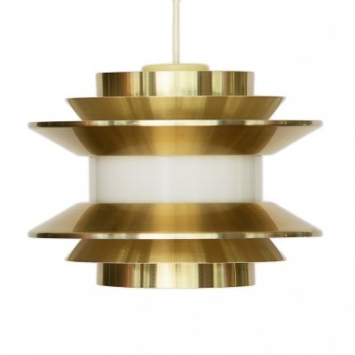 Pendant light 'Trava' in golden aluminium by Carl Thore