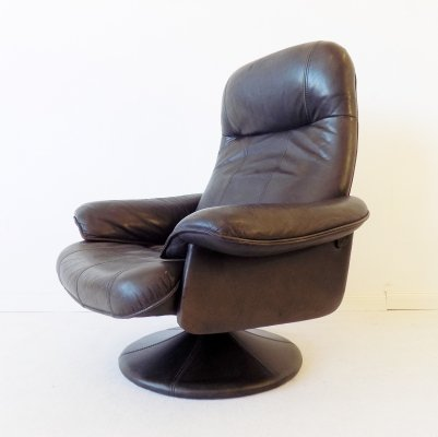 Thams Kvalitet Brown leather loungechair, 1970s