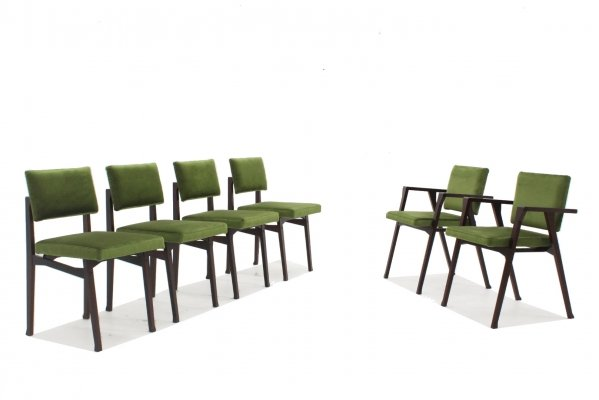 Set of 6 Luisa & Luisella dining chairs by Franco Albini, 1950s