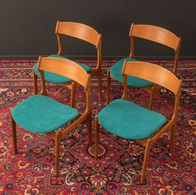 Set of 4 Dining Chairs, Denmark 1950s