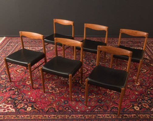 Set of 6 Dining Chairs by Henry W. Klein for Bramin, Denmark 1960s