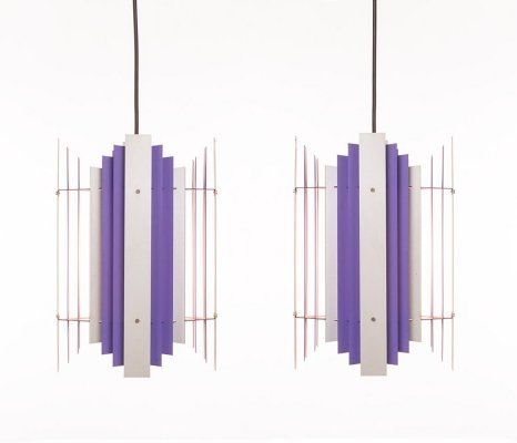 Set of two vintage geometrical pendants by Preben Dahl