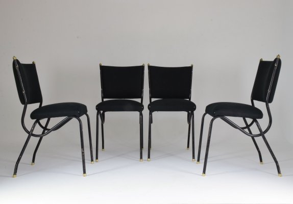 Set of 4 20th Century Italian BBPR Dining Chairs, 1950's