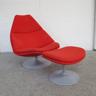Lounge Chair & Ottoman F510 by Geoffrey Harcourt for Artifort, 1980s