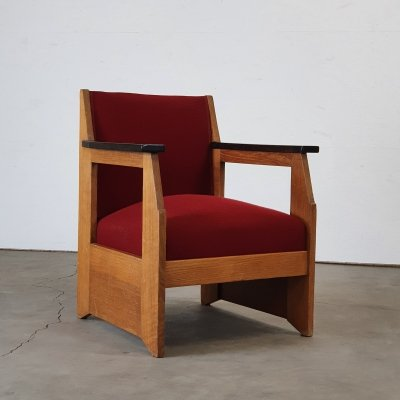 Modernist chair designed by H. Wouda for Pander, 1924